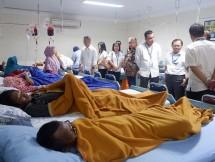 Suasana di bangsal anak-anak pengidap penyakit thallasaemia di RS Harapan Bunda, Pasar Rebo, Jakarta Timur, ketika WOM Finance melaksanakan kegiatan CSR, Kamis (28/02/2019).
