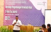 Asisten Deputi Pengembangan Pariwisata Regional II Kemenpar, Reza Pahlevi saat membuka Workshop Pengembangan Pariwisata Halal di Kota Tua Jakarta (Foto: Ridwan/Industry.co.id)