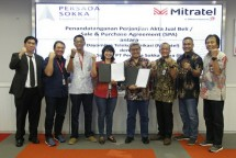PT Telkom Indonesia (Persero) Tbk (Telkom) mengakuisisi perusahaan menara PT Persada Sokka Tama (PST) melalui anak usahanya, PT Dayamitra Telekomunikasi (Mitratel).