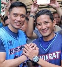 Cawapres Sandiaga Uno dan AHY (Foto Dok Industry.co.id)