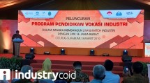 Menteri Perindustrian Airlangga Hartarto saat membuka peluncuran program pendidikan vokasi di Sikabumi (Foto: Ridwan/Industry.co.id)