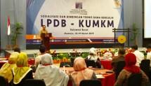 Dirut LPDB KUMKM Braman Setyo dalam Sosialisasi dan Bimbingan Teknis Dana Bergulir LPDB-KUMKM di Mamuju, Sulawesi Barat.