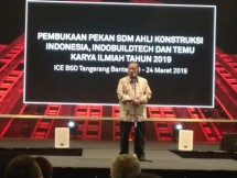 Menko Perekonomian Darmin Nasution buka pameran IndoBuildTech Expo 2019