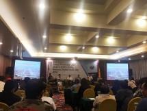 "Suasana diskusi yang bertajuk ""Kasus Privatisasi JICT Jilid II (2015-2039), Kemana Pemerintah dan KPK"" yang digelar Serikat Pekerja (SP) JICT di Hotel Sunlake, Sunter, Jakarta, Kamis (21/03/2019) petang."