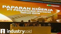 Paparan kinerja keuangan 2018 PT Pegadaian (Hariyanto/INDUSTRY.co.id)