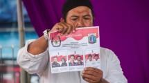 Ilustrasi pencoblosana Pilkada DKI Jakarta. (Oscar Siagian/Getty Images)