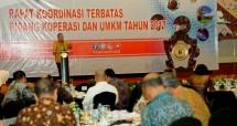Menteri Koperasi dan UKM Puspayoga, Dalam Rapat Koordinasi Bidang Koperasi dan UKM Tahun 2017