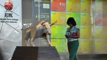 Bursa Efek Indonesia. (Bay Ismoyo/AFP)