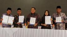 Menkop dan UKM Puspayoga, Ketua PP Muhammadiyah Haedar Nashir, Sekjen Kominfo, Farida Dwi Cahyarin