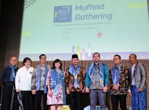Sekretaris Kemenkop dan UKM Agus Muharram, dalam diskusi panel pra Muslim Fashion Festival (Muffest) Indonesia 2017, di Jakarta, Rabu (1/3).