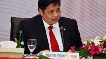 Menteri Perindustrian, Airlangga Hartarto Saat Menghadiri IORA Business Summit di Jakarta (6/3/2017)
