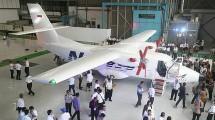 Pesawat N-219 hasil produksi PT Dirgantara Indonesia. (Jefta Images / Barcroft Media / Barcroft Media via Getty Images)