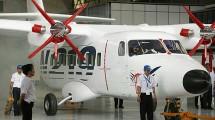 Pesawat N-219 hasil produksi PT Dirgantara Indonesia. ( Jefta Images / Barcroft Media / Barcroft Media via Getty Images)