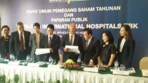 Ketut Budi Wijaya, Presdir PT Siloam Hospital Tbk bersama jajaran Dewan Direksi. (Herry Barus/INDUSTRY)