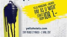 Yello Hotel Manggarai, Beri Promosi 'Pay As You Wish'