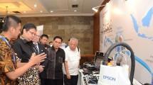 Menteri Perindustrian Airlangga Hartarto pada Seminar Nasional Implementasi Industri 4.0 di Jakarta, Selasa (18/4).