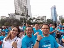 Menkominfo bersama para Jurnalis dalam acara hari pers sedunia di Jakarta