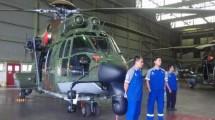 Helikopter EC 725 Cougar buatan PT Dirgantara Indonesia. (KOMPAS.com/Reni Susanti)