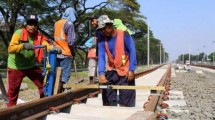 Ilustrasi pembangunan rel kereta. (Foto: IST)
