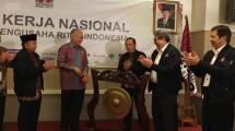 Menteri Perdagangan, Enggartiasto Lukita saat pembukaan Rakernas Aprindo