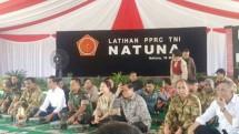 Presiden Jokowi Berikan Arahan pada Latihan TNI PPRC di Natuna. (Foto Ist)