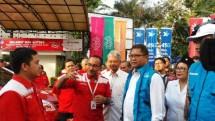 Menkominfo Rudiantara bersama Asosiasi Telekomunikasi Seluler Indonesia (ATSI) dan operator seluler (Telkomsel, Indosat, XL, H3I, SmartFren, SmartTel, Sampoerna Telekom).