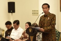 Presiden Jokowi saat Sidang Kabinet Pripurna, (Foto: Humas/Rahmat)