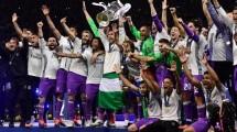 Real Madrid merayakan kemenangan Liga Champions, Minggu (4/6/2017). (Foto: BBC)