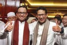 Gubernur DKI Anies Baswedan-Wakil Gub Sandiaga Uno (Foto Ist)