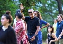 Barack Obama dan keluarga berlibur di Yogyakarta (Foto Ist)