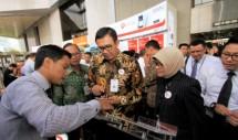 Direktur Utama PT Bank Negara Indonesia (Persero) Tbk Ahmad Baiquni pada acara perayaan ulang tahun BNI ke-71 di Jakarta, Rabu (5/7/2017). (Foto Rizki Meirino)