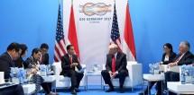 Presiden Jokowi dan Presiden Donald Trump di KTT G20 (Foto Setpres)