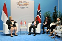 Presiden Jokowi dan PM Norwegia Erna Solberg di KTT G20 (Foto Setkab)