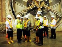 Presiden Jokowi kunjungi proyek MRT (Foto Setkab)