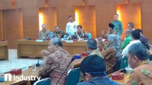 Menteri Perindustrian Airlangga Hartarto pada peresmian Koperasi Industri Tanah Air (Hariyanto/ INDUSTRY.co.id)
