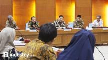 Menteri Perindustrian Airlangga Hartarto pada peresmian Koperasi Industri Tanah Air