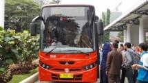 PT TransJakarta memperkenalkan minitrans Selasa (18/7/2017)