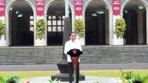 Presiden Jokowi hadiri kongres Pancasila di kampus UGM Sabtu (22/7/217) (Foto Setpres)