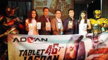 Andy Gusena, Brand Director Advan,Tjandra Lianto, Marketing Director Advan, Reino Barack Tokoh Kunci dibalik Terciptanya serial tokusatsu pertama di Indonesia Satria Garuda Bima-X