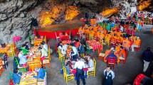Restoran La Gruta, di Gua Vulkanik, Meksiko (Foto:travelandleisure.com)