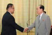 Teguh Santosa Sekjen Hubungan Luar Negeri Indonesia-Korut Bertemu Dengan Presiden Presidium Majelis Tertinggi Korea, Kim Yong Nam.