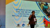 Menteri Keuangan Sri Mulyani dalam Sinergi Pemerintah dalam Mengangkat Ekonomi Rakyat Melalui Inklusi Keuangan dan Peluncuran Pilot Project Pembiayaan Ultra Mikro (Foto:Ahamd Fadli/Industry.co.id)