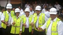 Menteri BUMN Rini Soemarno, Menteri PUPR, Menhub, Dirut Perum Perumnas, Dirut PT KAI Selasa (15/8/2017) (Foto Ridwan