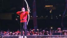 Presiden Jokowi Lepaskan Anak Panah, Hitung Mundur Asian Games 2018 Dimulai (Foto Setkab)