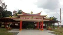 Kuil Seriwijaya Palembang, di Pulau Kemaro, Sungai Musi, Palembang, Sumatera Selatan (Chodijah Febriyani/Industry.co.id)