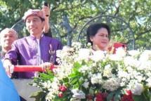 Presiden Jokowi dan Ibu Iriana di Festival Kemerdekaan Bandung (26/8/2017) (Foto Setkab)
