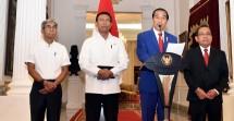 Presiden Jokowi saat menyampaikan pernyataan pers terkait konflik Rohingya di Istana Merdeka, Jakarta, Foto: Humas/Nia)