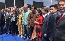 Presiden Jokowi-PM Singapore Membuka Singapore Busiess Forum di Marina Cruise Singapore, Kamis (7/9/2017) (Foto Ist)