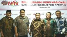 Ketum PWI Margiono Bersama Pengurus PWI dan SMSi Pusat, dalam Launching HPN (Dok. SMSI)