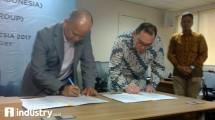 KADIN Indonesia dan Global Solusi Komunikasi tandatangani perjanjian kerjasama (Hariyanto/INDUSTRY.co.id)